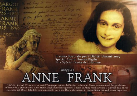 Special Award Human Rights 2015 Anne Frank